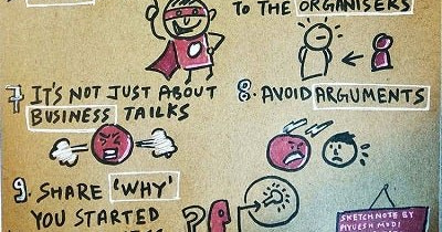 sketch note on how to do better at networking events