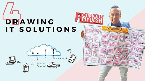 Buiness Doodles on Cloud services and IT infrastructure
