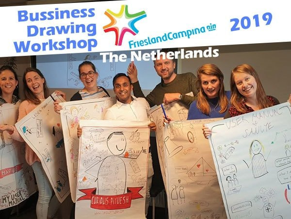 Business-drawing-workshop-Technical-Univresity-Friesland-Campina-curious piyuesh